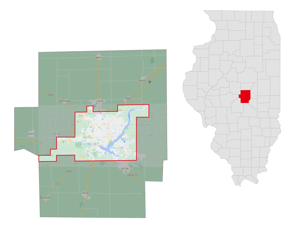 Macon County Mosquito Abatement Coverage Mapy Coverage Map
